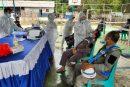 Ratusan Karyawan dan Pekerja PT Perumahan Pembangunan Bendungan Lolak Jalani Rapid Test Massal