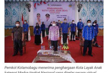 Kota Kotamobagu Raih Penghargaan KLA Kategori Madya Tingkat Nasional.