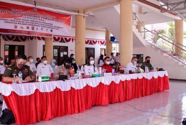 Bahas Perkembangan Covid 19, Pemkab Bolmong Gelar Rapat Bersama Forkompida