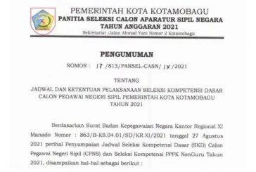 Ini Jadwal dan Ketentuan Pelaksanaan Tes SKD CPNS Kotamobagu.