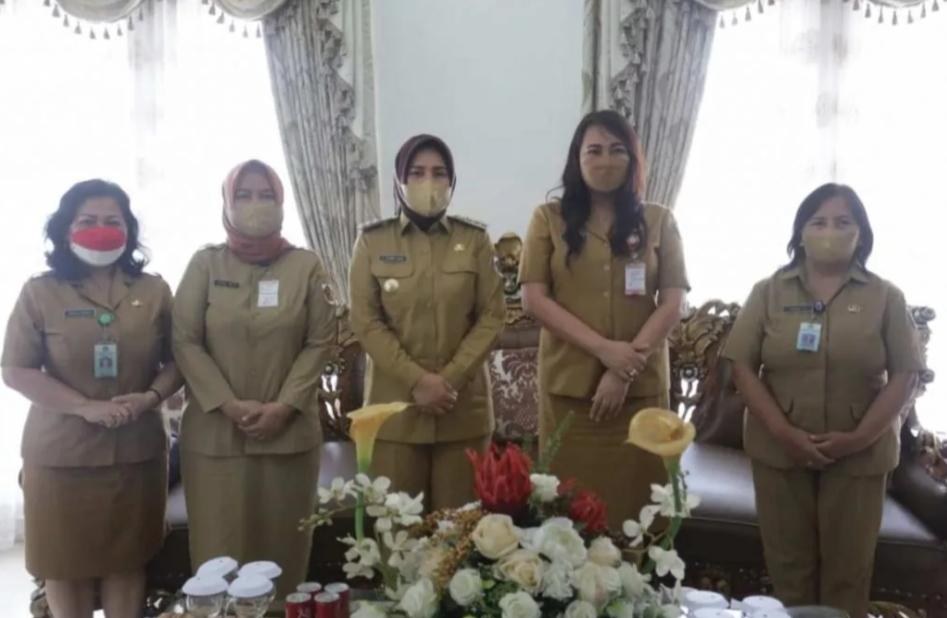Wali Kota Kotamobagu Terima Kunjungan Kerja Kepala DP3A Sulut.