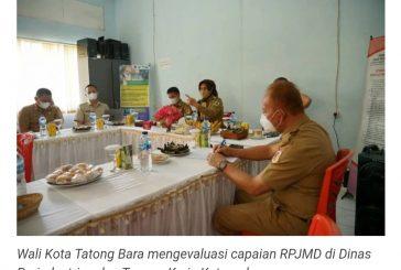 Wali Kota Tatong Bara Evaluasi Capaian RPJMD 3 OPD.